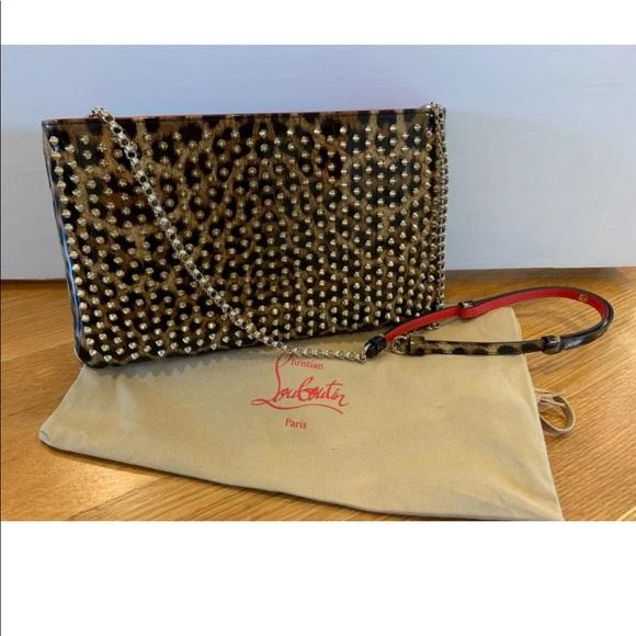 Christian Louboutin Handbags - NEW Louboutin bag, clutch, patent leather, leopard